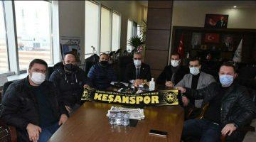 """Mustafa Helvacıoğlu: """"Keşan'ımızı sporda daha ileriye taşıyacağımız bir yolculuğumuz başlıyor"""" Keşanspor yönetiminden Helvacıoğlu'na ziyaret"""