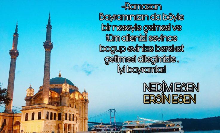 -Ramazan Bayramınızın da böyle bir neşeyle gelmesi ve tüm ailenizi sevince boğup evinize bereket getirmesi dileğimizle. İyi bayramlar!